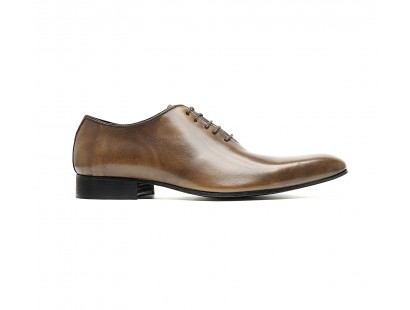 Richelieu one cut patiné marron taupe